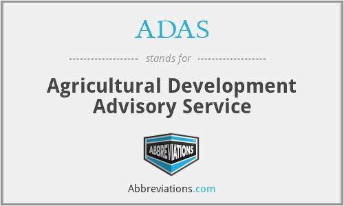 ADAS - Agricultural Development Advisory Service