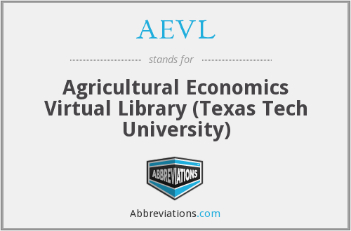 AEVL - Agricultural Economics Virtual Library (Texas Tech University)