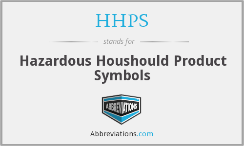 HHPS - Hazardous Houshould Product Symbols