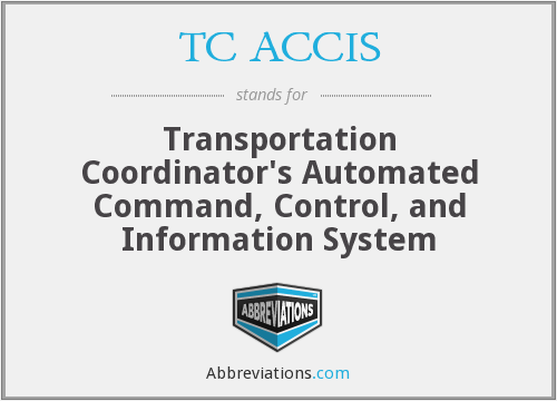 TC ACCIS - Transportation Coordinator's Automated Command, Control, and Information System