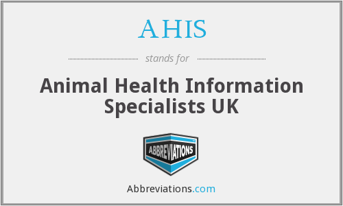 AHIS - Animal Health Information Specialists UK