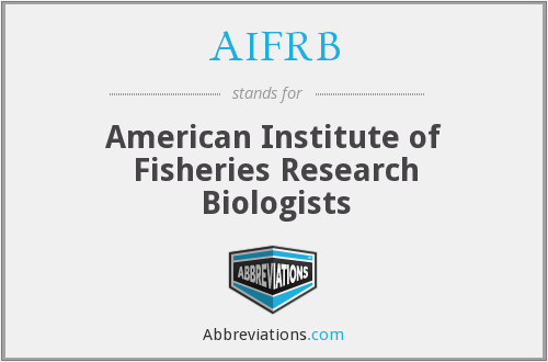 AIFRB - American Institute of Fisheries Research Biologists