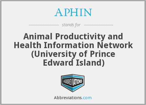 APHIN - Animal Productivity and Health Information Network (University of Prince Edward Island)
