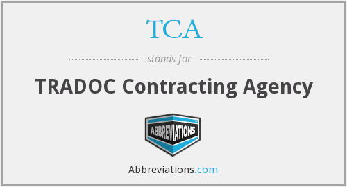 TCA - TRADOC Contracting Agency
