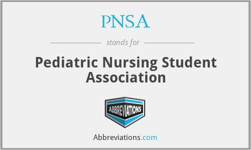 PNSA - Pediatric Nursing Student Association
