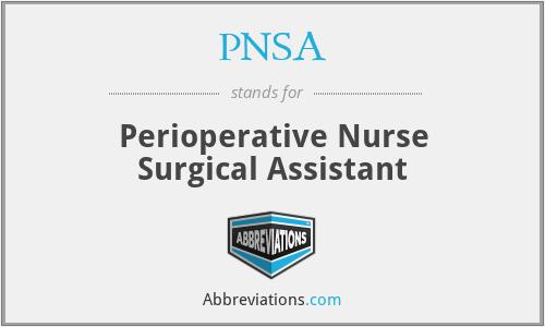 PNSA - Perioperative Nurse Surgical Assistant