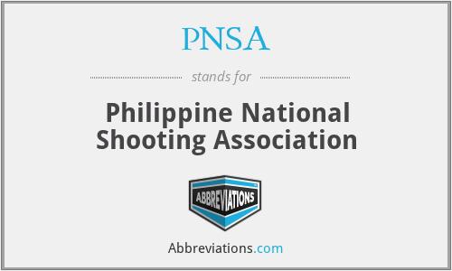 PNSA - Philippine National Shooting Association