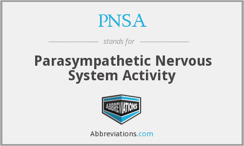 PNSA - Parasympathetic Nervous System Activity