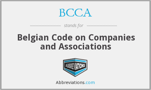 BCCA - Belgian Code on Companies and Associations