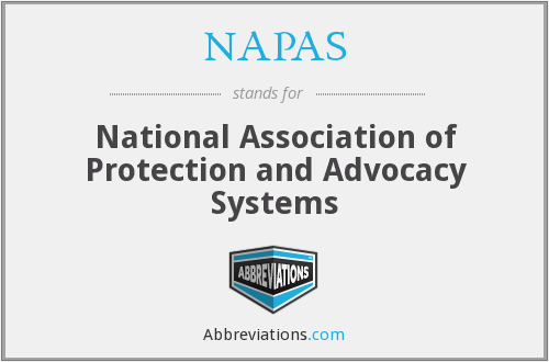 NAPAS - National Association of Protection and Advocacy Systems