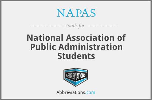 NAPAS - National Association of Public Administration Students