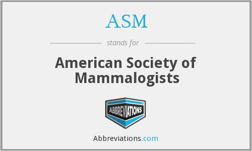 ASM - American Society of Mammalogists