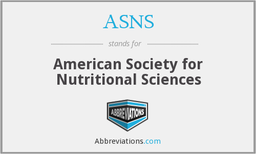 ASNS - American Society for Nutritional Sciences