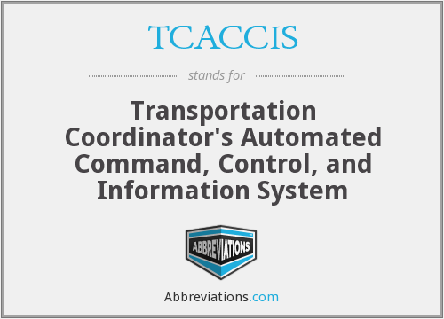 TCACCIS - Transportation Coordinator's Automated Command, Control, and Information System