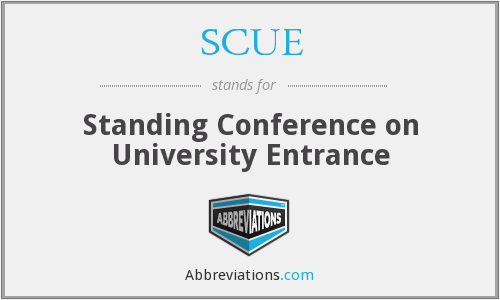 SCUE - Standing Conference on University Entrance