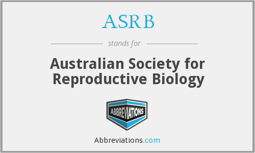 ASRB - Australian Society for Reproductive Biology