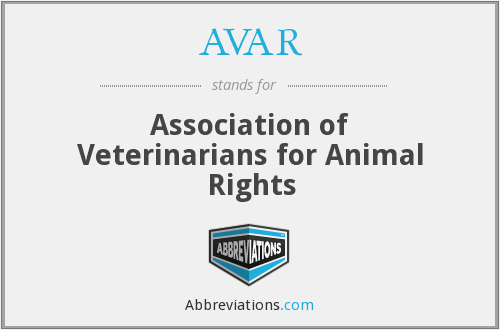 AVAR - Association of Veterinarians for Animal Rights