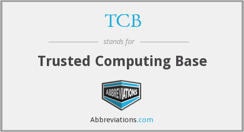 What does TCB stand for?