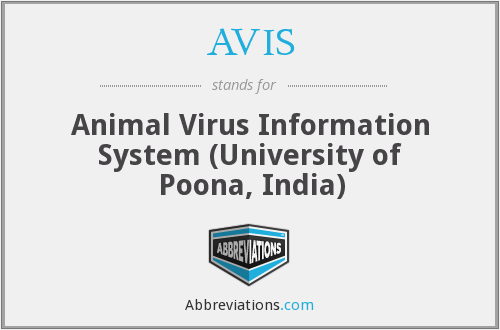 AVIS - Animal Virus Information System (University of Poona, India)