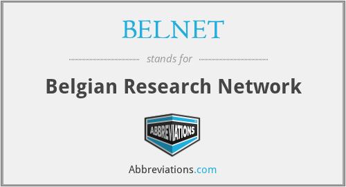 BELNET - Belgian Research Network