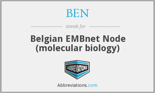 BEN - Belgian EMBnet Node (molecular biology)