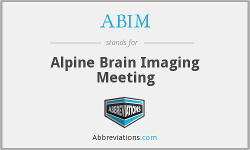 ABIM - Alpine Brain Imaging Meeting