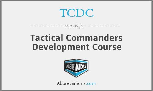 TCDC - Tactical Commanders Development Course