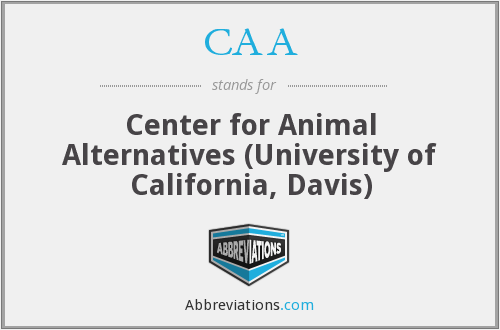 CAA - Center for Animal Alternatives (University of California, Davis)