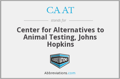 CAAT - Center for Alternatives to Animal Testing, Johns Hopkins