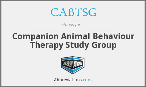 CABTSG - Companion Animal Behaviour Therapy Study Group