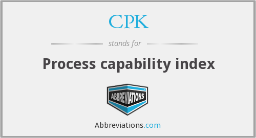 CPK - Process capability index