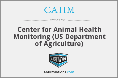 CAHM - Center for Animal Health Monitoring (US Department of Agriculture)