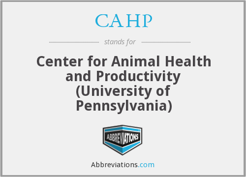 What does CAHP stand for?