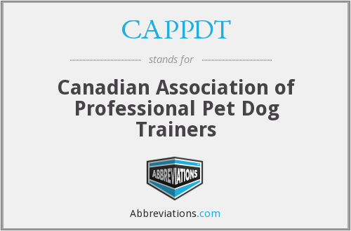CAPPDT - Canadian Association of Professional Pet Dog Trainers