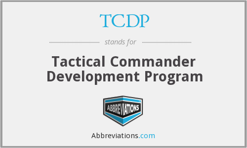 What does TCDP stand for?
