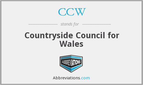 CCW - Countryside Council for Wales