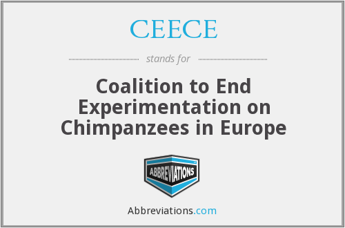 CEECE - Coalition to End Experimentation on Chimpanzees in Europe