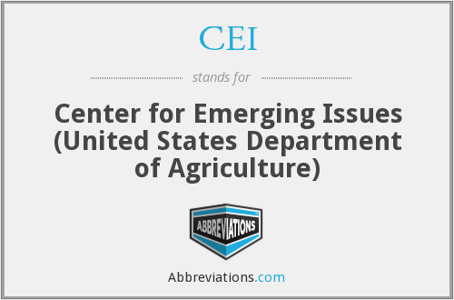 CEI - Center for Emerging Issues (United States Department of Agriculture)