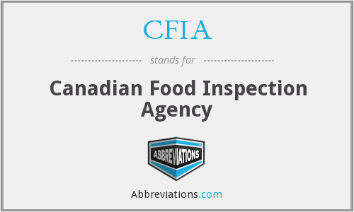 What does CFIA stand for?