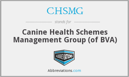 What does CHSMG stand for?