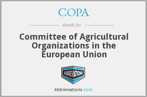 COPA - Committee of Agricultural Organizations in the European Union