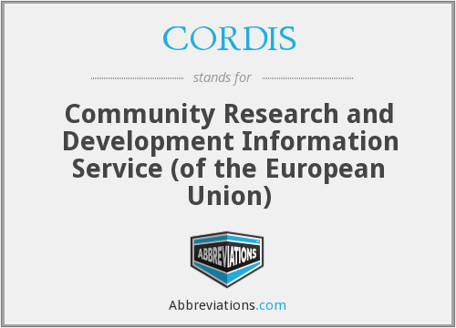 What does CORDIS stand for?