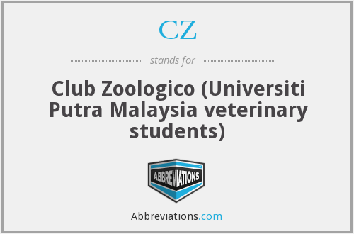 CZ - Club Zoologico (Universiti Putra Malaysia veterinary students)