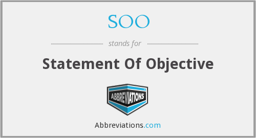 SOO - Statement Of Objective