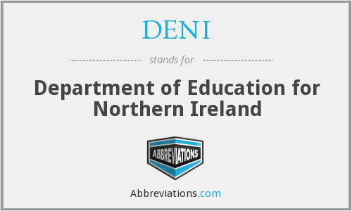 DENI - Department of Education for Northern Ireland