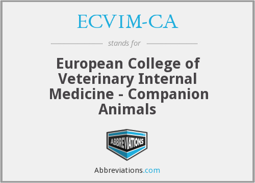 What does ECVIM-CA stand for?