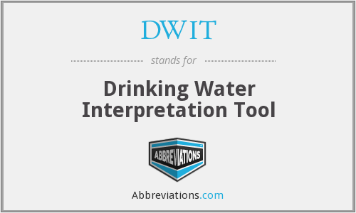 DWIT - Drinking Water Interpretation Tool