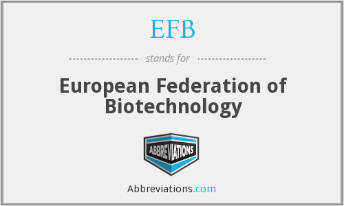 EFB - European Federation of Biotechnology