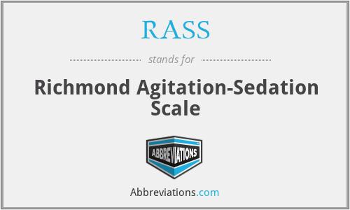 RASS - Richmond Agitation-Sedation Scale