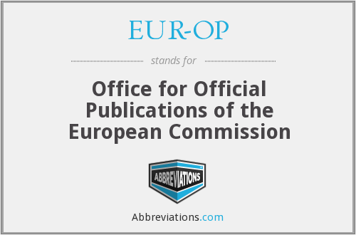 What does EUR-OP stand for?